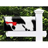 Awesome Mailbox - Skinshop Fur Cow Design - Metal, Post Mount and Made in the USA