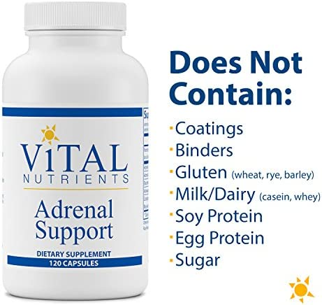 Vital Nutrients - Adrenal Support - Suitable for Men and Women - Supports Adrenal Gland Function, Supports Mild Stress and Anxiety, and Promotes a Healthy Immune System - 120 Capsules per Bottle 5
