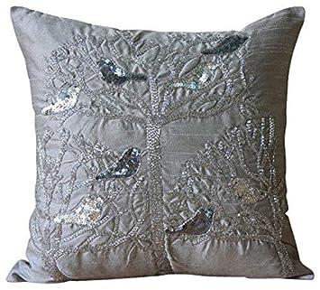 Amazon.com: Paloma almohadas con abalorio Diseñador fundas ...
