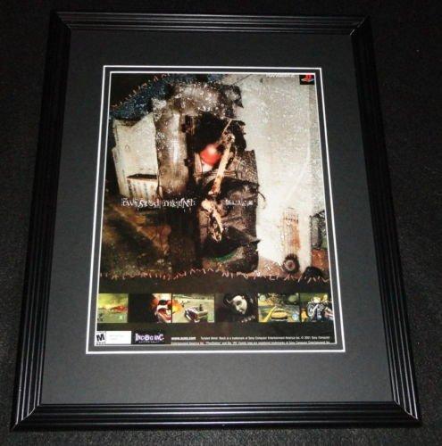 Metal Advertisement (Twisted Metal 2001 PS2 11x14 Framed ORIGINAL Advertisement)