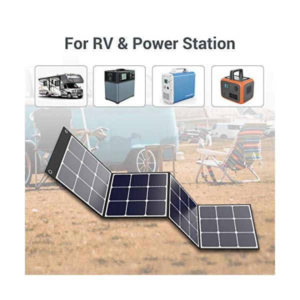51o5GBJeRvL PowerOak Faltbares Solarpanel SP120 - Solarmodul für PowerOak AC50S/EB150/EB240/AC200P Tragbare Powerstation 120W…