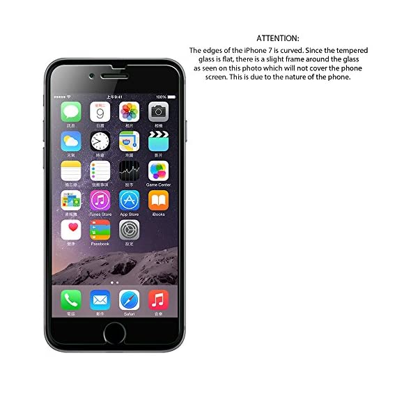 Luvvitt Tempered Glass Screen Protector for Apple iPhone 7 (2016) and iPhone 8 (2017) - Crystal Clear 2 iPHONE 7 TEMPERED GLASS SCREEN PROTECTOR: Compatible with iPhone 7. Doesn't interfere with the fingerprint home button. PREMIUM GRADE: Japanese Asahi Tempered glass with 9H+ scratch resistant surface (almost as hard as a diamond with highest resistance at 10H) ULTRA CLEAR: Shock-resistant layer under the glass. High touch sensitity.