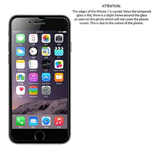 iPhone 8Plus tempered glass Screen Protector, Luvvitt proteggi schermo in vetro temperato per Apple iPhone 8Plus (2017)–Crystal Clear
