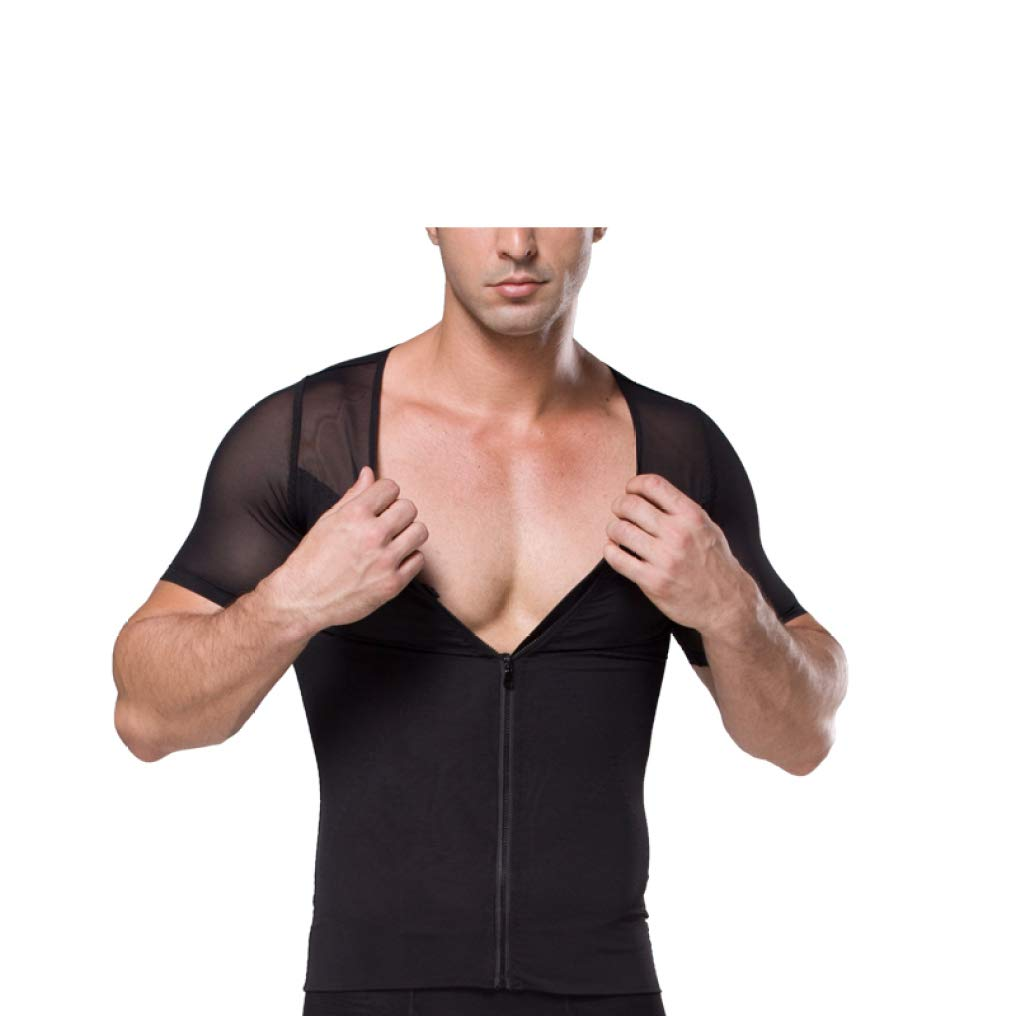 TRESOMI Male Slimming Body Shapewear Workout Tank Top Breathable Zipper Vest Slimming Belly Control