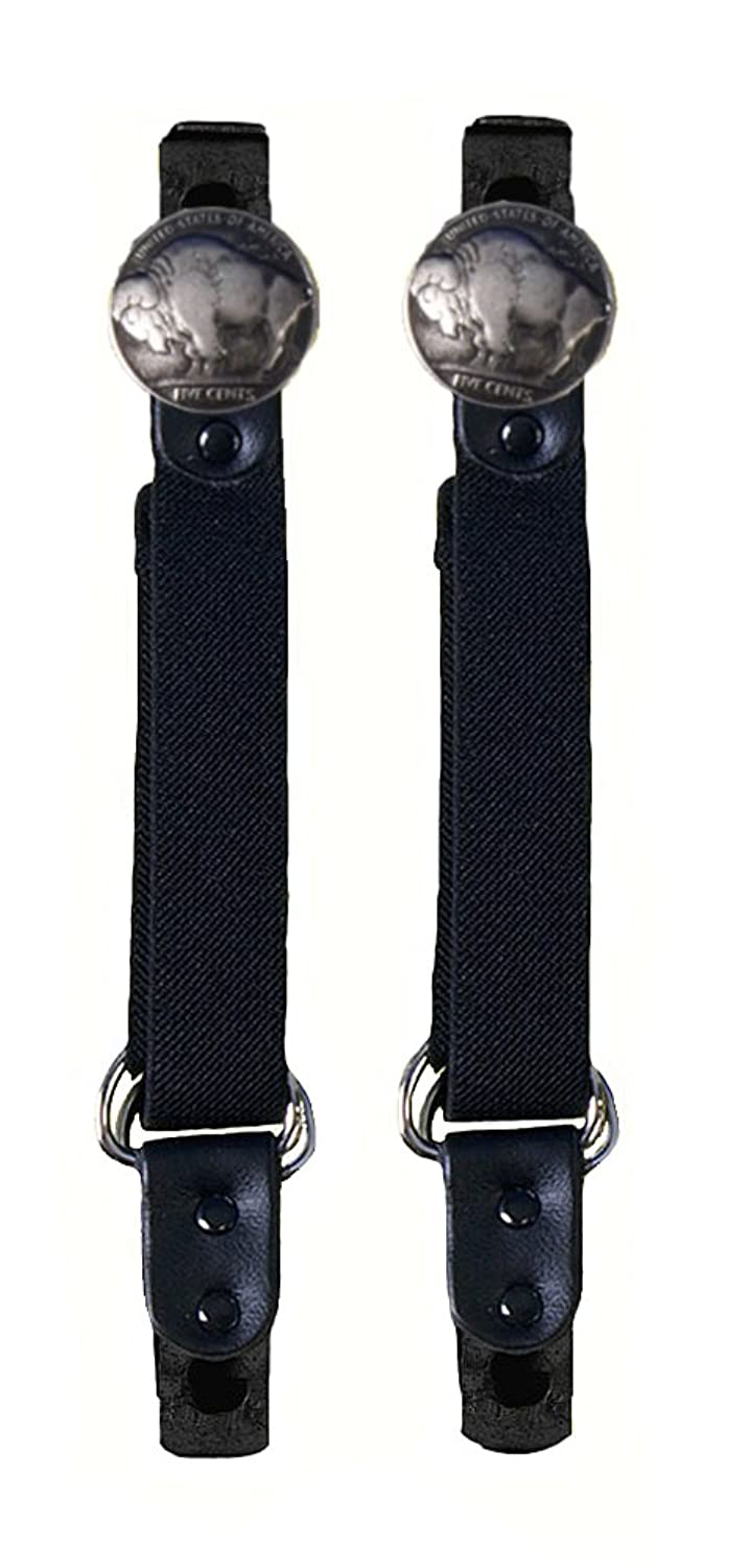 Buffalo Nickel Motorcycle Pant Clip Boot Bungee Riding Straps
