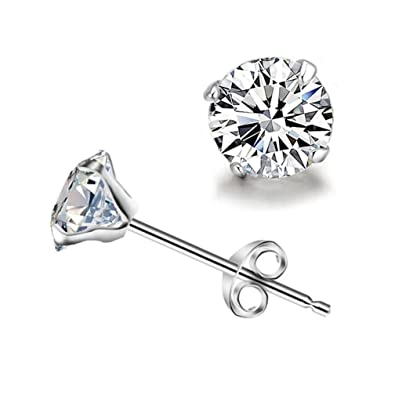 f9f7fe7185708 Winuxury Women's Elegant 925 Sterling Silver Jewelry Claws Design Cubic  Zirconia Stud Earrings