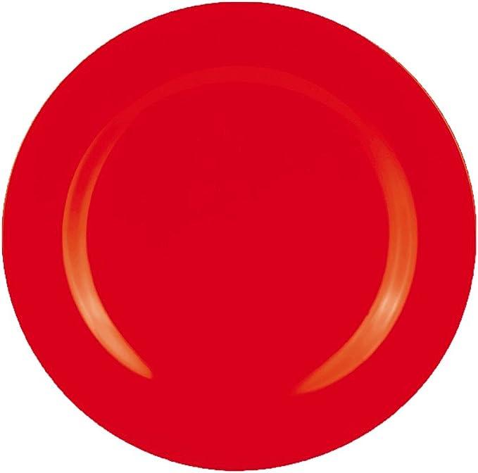 28 x 28 x 2 cm Melamine zakdesigns Dinner Plate BBQ /Ø28cm in Orange