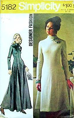 Amazon Com Simplicity 5182 Vintage Misses Designer Dress Long Or Short Sewing Pattern Check Listing For Size