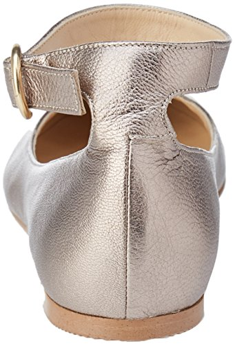 Women's JONAK Strap Taupe 007 Ankle Ballet Grey Villa Flats Fn4nx7