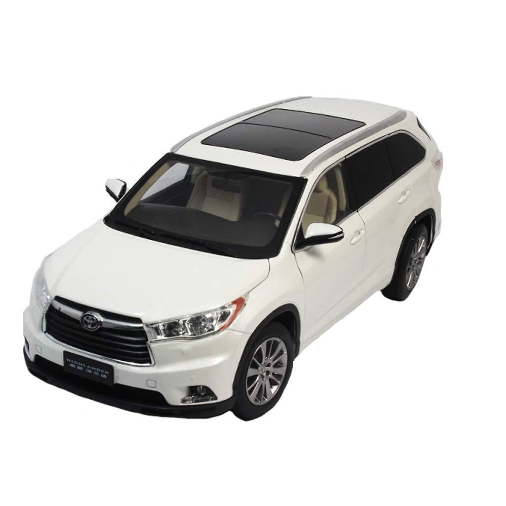 Maisto MoMo 1 18 2015 GAC Toyota Highlander SUV Modello di Auto in Lega Simulazione Porta Aperta Sound And Light Collezione di Giocattoli per Bambini ( Colore   bianca )