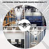 2 Pack LED Garage Lights, 60W Deformable LED Garage Ceiling Lights with 3 Adjustable Wings, 6000LM, E26 LED Shop Light for Warehouse, Workshop, Basement