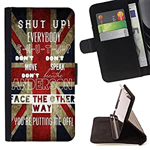 - Shup up - - Style PU Leather Case Wallet Flip Stand Flap Closure Cover FOR Samsung Galaxy S5 Mini, SM-G800 - Devil Case -