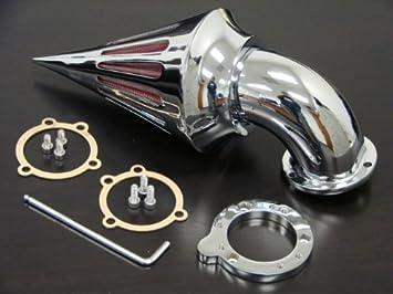 Chrome Spike Air Cleaner Intake for Harley-Davidson CV Carburetors and S/&S