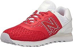 New Balance Men\'s Reengineered 574 Red Athletic Shoe