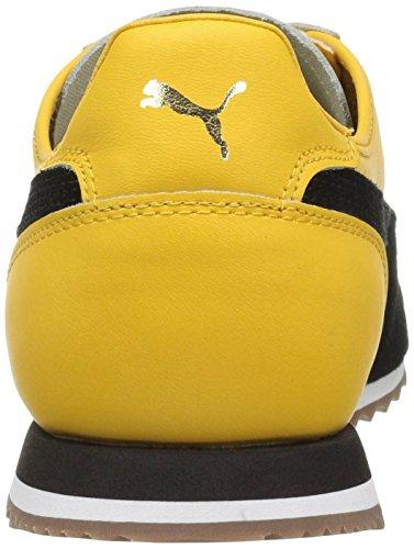 Mens Roma OG 80S Fashion Sneaker, Solar Power-Puma Black, 5 M US