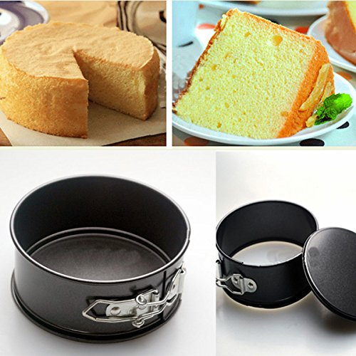 Bakeware & Accessories - 4 Inch Non-Stick Cake Pan Favose Stainless Still Live Bottom Cake Pans Mold - Non Stick Cake Pans PanLid Round Inch Layer Non-Stick - 9 - 1PCs