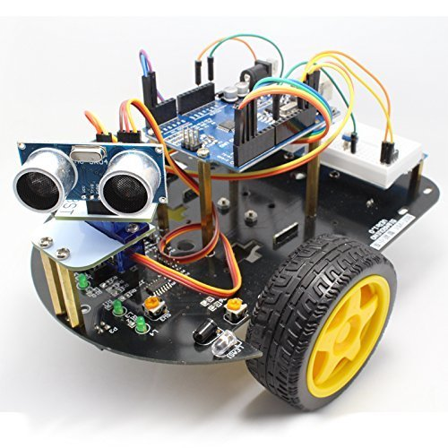 Kuman sm2 robot car kit for arduino 2 wheel utility for Robot motors and parts