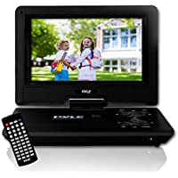 "Pyle 9"" Portable DVD Player [Travel CD/DVD Player] Built-in Rechargeable Battery 