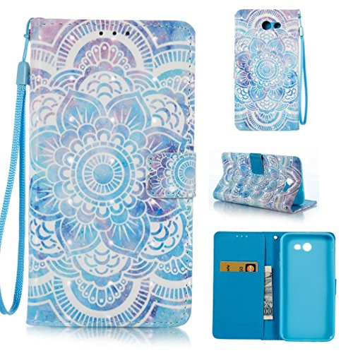 Galaxy J7 V Case, Galaxy J7 Perx Case, Galaxy J7 Sky Pro Case, Galaxy J7 2017 Case, Impact Resistant Protective Shell Card Slots Case for Samsung Galaxy J7 2017-Flower