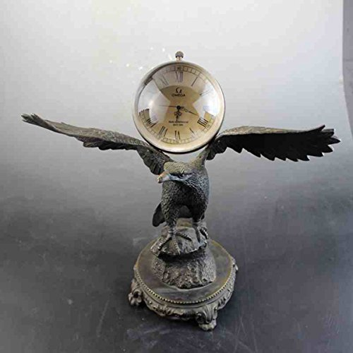 Eagle The copper sheet Mechanics Desk clock crystal Glass Artwork Decoration by Sunmir