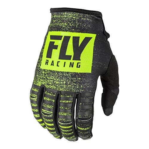 Fly Racing 2019 Kinetic Gloves - Noiz (LARGE) (BLACK/HI-VIZ)