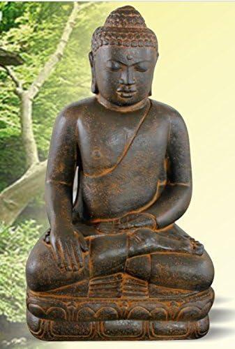 DEGARDEN AnaParra Figura Buda Grande Satisfacción para el jardín Decorativa 107cm. hormigón Óxido: Amazon.es: Jardín