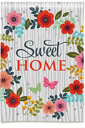 Morigins Sweet Home House Flag Flowers Double Sided Spring Summer Yard Outdoor Decorative 28 X 40 Inch