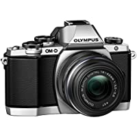 Olympus OM-D E-M10 Mirrorless Digital Camera with 14-42mm 2RK lens (Silver) (Certified Refurbished)