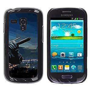A-type Arte & diseño plástico duro Fundas Cover Cubre Hard Case Cover para Samsung Galaxy S3 MINI 8190 (Resumen del arma)
