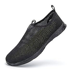 LEADERICA Men's Lightweight Aqua Water Shoes Beach Sneakers