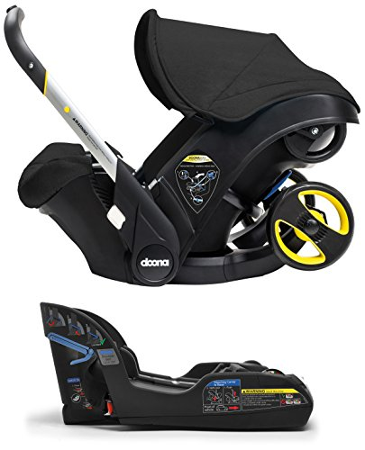Doona Infant Car Seat & Latch Base - Night (Black) - US Version