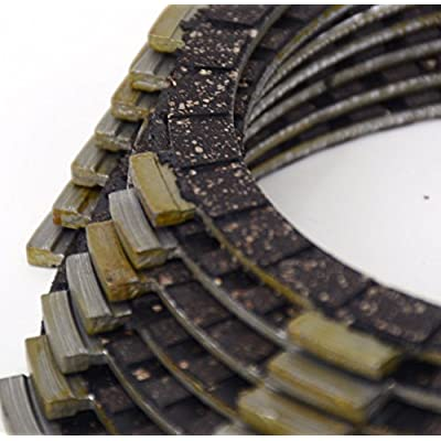Motorcycle Clutch Plates Disc Kit Set For Honda CB400SS 02-08 XR400 05-08 XR400M 06-08 XR400SM 05 VT600C 88-07 XL600V 89-90 CB650F 14-15 Dirt Street Bike Motorbike 7 Pcs: Automotive
