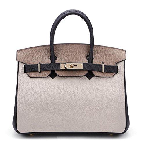 Bolso de cuero del platino del hombro de las señoras bolso de los bolsos del patrón del litchi bolsos oblicuos del color del encanto de la moda 2