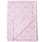Kids N' Such Minky Baby Blanket 30  x 40  - Pink Damask - Soft Swaddle Blanket for Newborns and Toddlers - Best for Girls Crib Bedding, Nursery, and Security - Plush Double Layer Fleece Fabric
