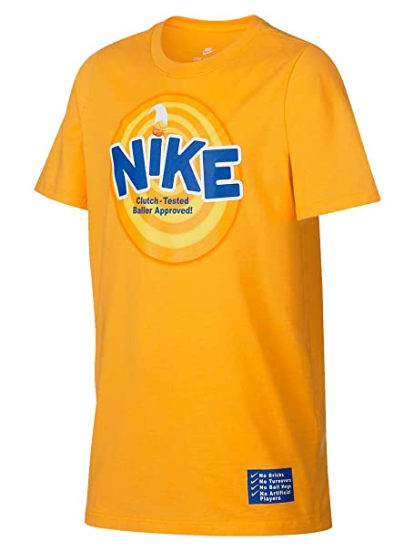the latest 3a3db 88b0f Nike Mens Dri-Fit Kyrie 4 Kix Cereal Graphic Shirt Yellow at ...