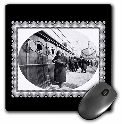 1890 Photograph - 3dRose BLN Vintage Photographs of History and People 1800s - 1900s - George Eastman on Board the S S Gallia February 1890 by Frederick Fargo onboard a Steam Ship - MousePad (mp_160810_1)
