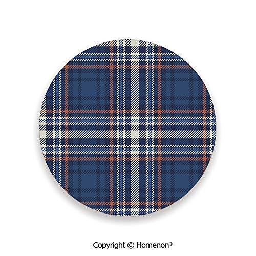 Abstract Striped Scottish Culture Inspired Celtic Fashion,Absorbent Coaster For Drinks Night Blue Cinnamon White,3.9×0.2inches(8PCS),Prevent Furniture From Dirty Scratched (Furniture Outdoor Commercial Melbourne)