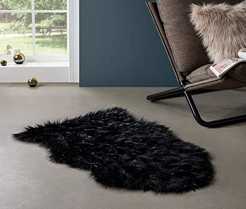 g Bling Sheepskin Rug Shaggy Twinkle Chair Cover Super Soft Seat Cushion Pad Throw Accent Decor Pelt for Contemporary Home Party or Wedding Decor ()
