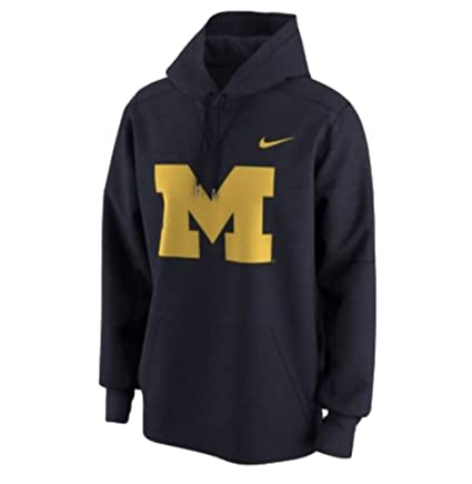 bfdc1dae086f Nike Therma Fit Michigan Wolverines Pullover Fleece Lined Hoodie Sweatshirt  (College Navy