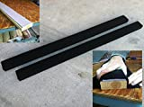 (2) 9' Long Marine Carpet BLACK Bunk Boards w/ PADDING