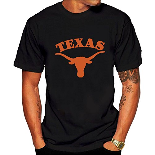 T-shirt Texas Short Longhorns Sleeve - University Of Texas Austin Graphic Tee Men's Short Sleeve T-Shirt Black