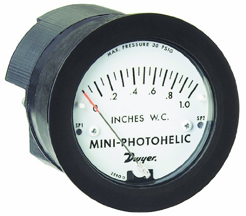 Dwyer Mini-Photohelic Series MP Differential Pressure Switch/Gauge, Range 0-5 psi