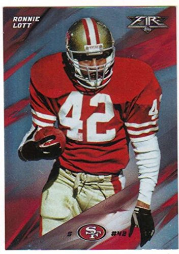 - 2015 Topps Fire Football Silver Foil Parallel #25 Ronnie Lott 49ers