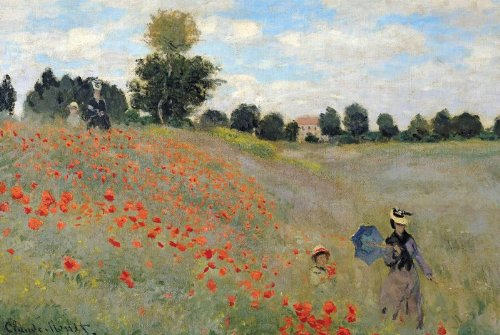 "Claude Monet Poster Poppy Field at Argenteuil (36""x24"")"