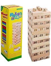 48 مكعب جينجا خشبي مغلف ورقمي بحجم كبير، العاب خشبية كاجول عالية - 2724634188108