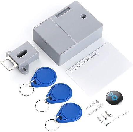 OWSOO Cerradura Inteligente, RFID, Sensor de Tarjeta IC, sin Agujero Perforado, Cerradura Invisib...