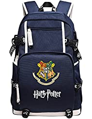 YOURNELO Boys Girls Harry Potter Canvas School Backpack Bookbag
