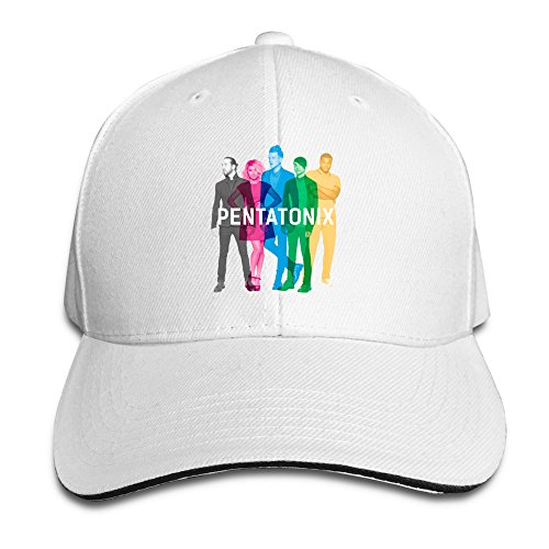 BAI XUE Pentatonix Music Band Adjustable Casquette Baseball Hip Hop Cap White (Pentatonix Boy Christmas Little Drummer)
