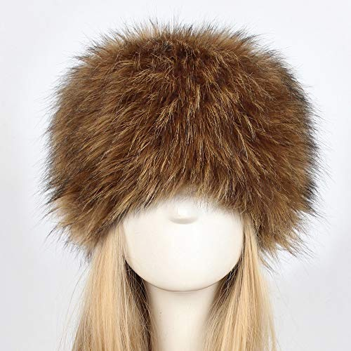 bc1a713994eb6 Amazon.com: Women Faux Fur Hat Vertily Teen Girls Thick Winter Copy Animal  Fur Warm Dome Hat (Brown): Clothing