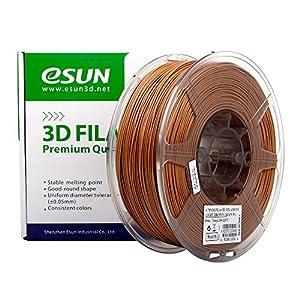 eSUN 1.75mm PLA PRO (PLA+) 3D Printer Filament 1KG Spool (2.2lbs), 19 Colors to Choose (Light Brown) from ESUN